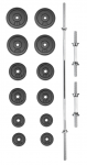 Set činek PREMIUM kovový 50 kg