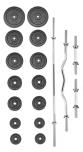 Činkový set PREMIUM kovový 80 kg
