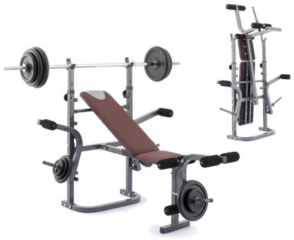 Posilovací lavice na bench press TRINFIT Bench FX2 s činkami a složením