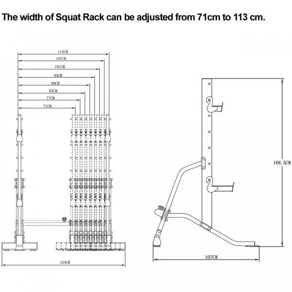 Pure Strength Squat Rack koty1g