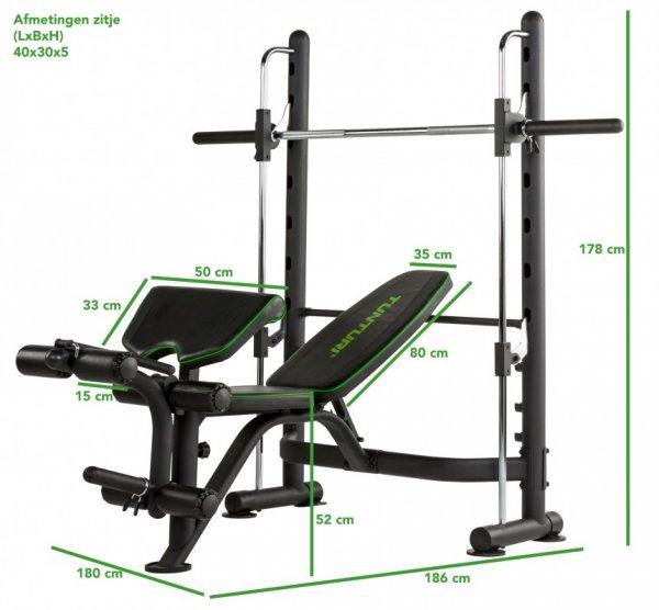 Posilovací lavice na bench press TUNTURI SM60 Half Smith