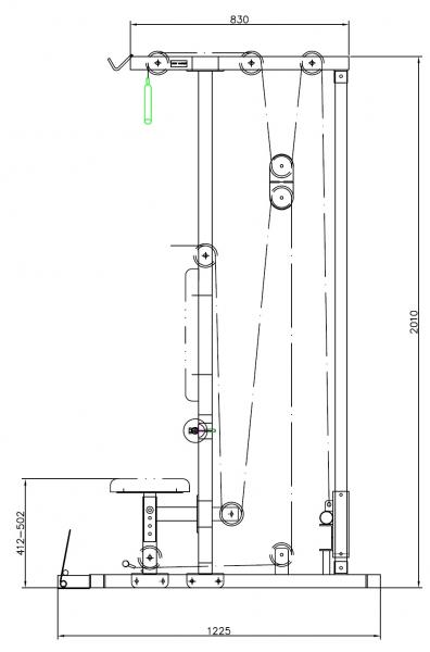 Posilovací lavice s kladkou TRINFIT Multi Lat nakresg