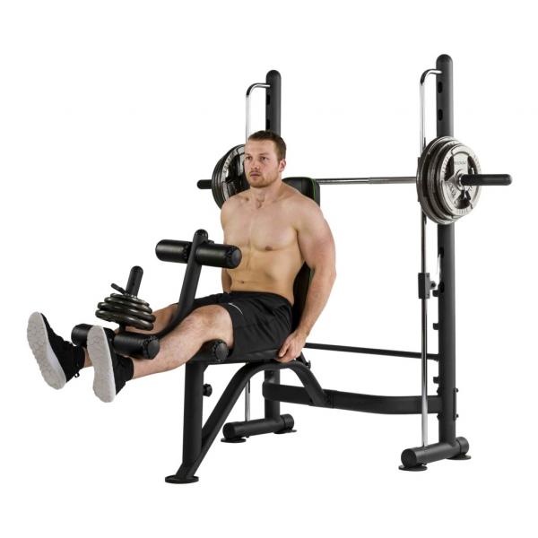 Posilovací lavice na bench press Tunturi SM60 Half Smithcvik 5g