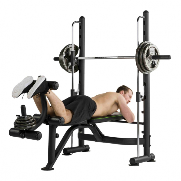 Posilovací lavice na bench press Tunturi SM60 Half Smithcvik 6g