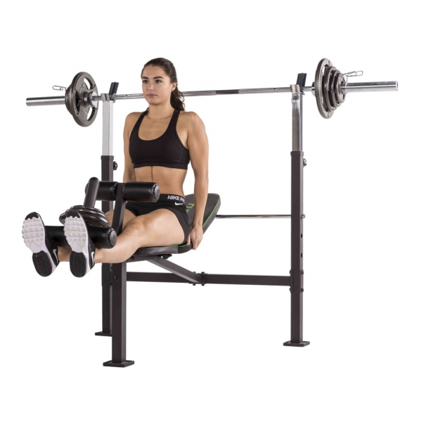 Posilovací lavice na bench press TUNTURI WB60 Olympic Width Weight Bench cvik3g