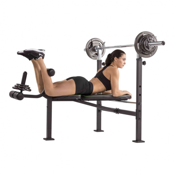 Posilovací lavice na bench press TUNTURI WB60 Olympic Width Weight Bench cvik 7g