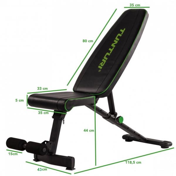Posilovací lavice na břicho TUNTURI UB20 Utility Bench7g