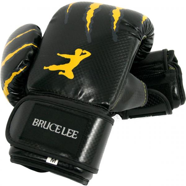 Boxerské rukavice na pytel nebo sparring BRUCE LEE na sobě