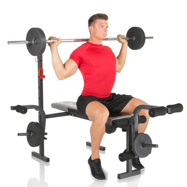 Posilovací lavice na bench press Hammer Bermuda tlaky na ramena