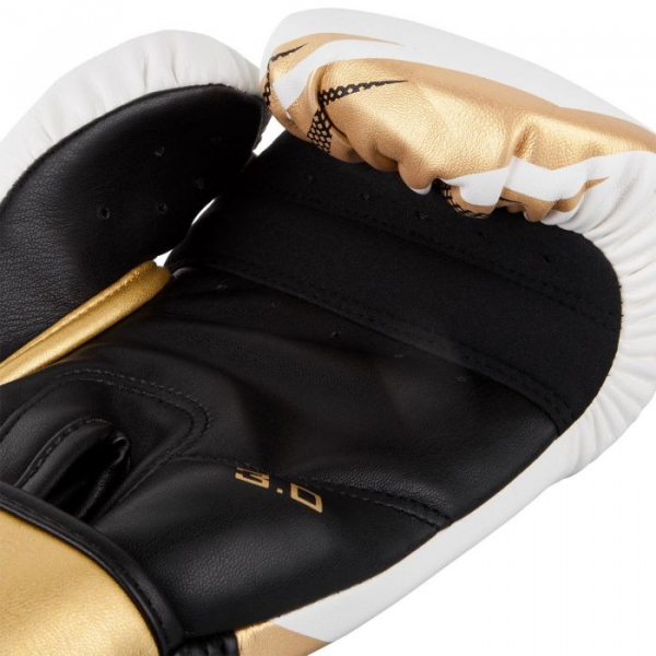 Boxerské rukavice Challenger 3.0 VENUM bíločernozlaté - detail 2
