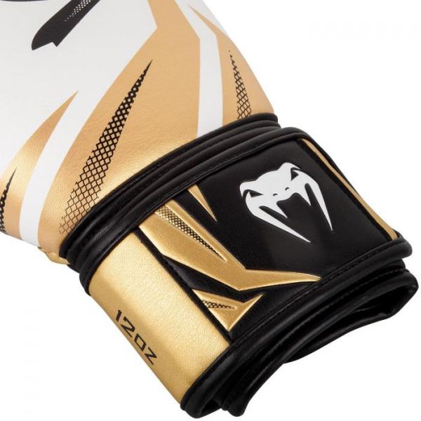 Boxerské rukavice Challenger 3.0 VENUM bíločernozlaté - detail