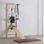 Posilovací lavice na břicho Fitham ribstole dřevěné s lavicí  a doplňky FHM